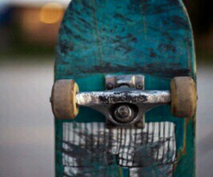 skateboard, blue, and skate image