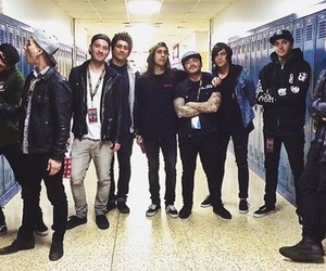 pierce the veil, sleeping with sirens, and bands image