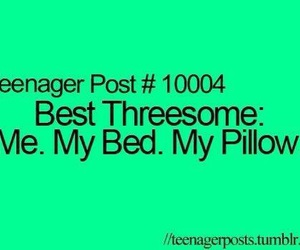 bed, pillow, and funny image