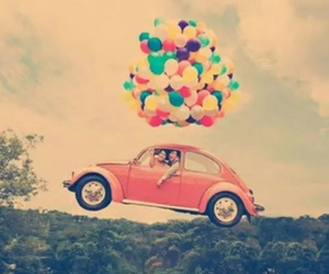balloons, car, and fly image