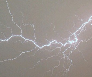 pale, lightning, and sky image