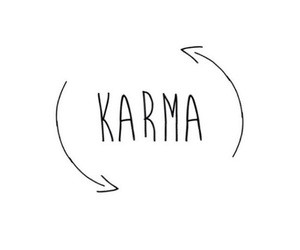 karma, quote, and life image