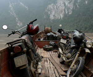 motorcycle, motorbike, and travel image