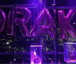 purple, Drake, and glow image