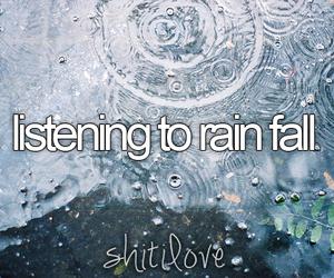 rain and text image