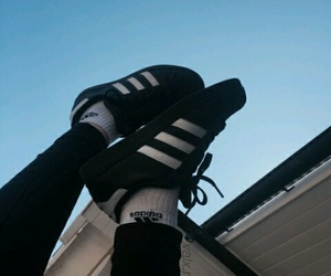 black, shoes, and adidas image