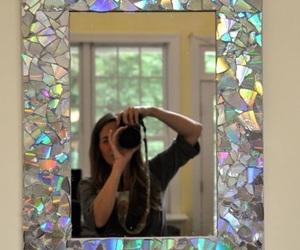 mirror, diy, and cd image