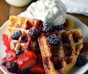 food, berries, and dessert image