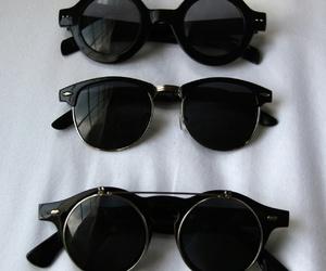 black, sunglasses, and glasses image