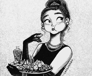 drawing, food, and art image