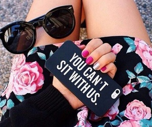 flowers, sunglasses, and iphone image