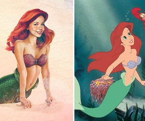 ariel, cartoon, and disney image