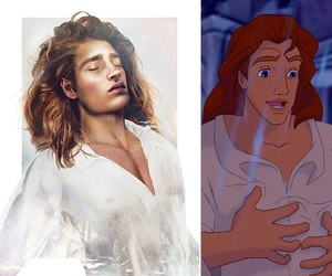 disney, prince, and beast image