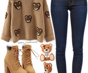 bear, outfits, and fashion image