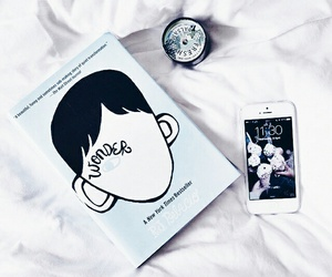 books, iphone, and white image