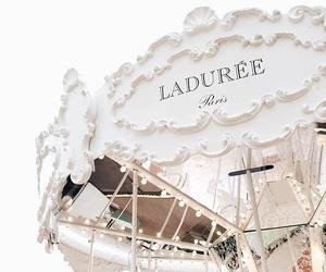 white, paris, and laduree image