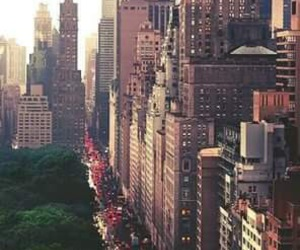 city, new york, and skyscrapers image