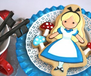 alice, alice in wonderland, and Cookies image