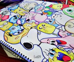 cartoons, kirby, and stitch image