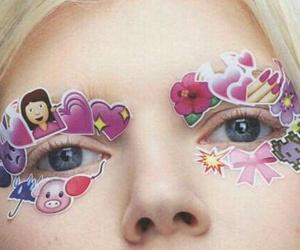 girl, eyes, and emoji image