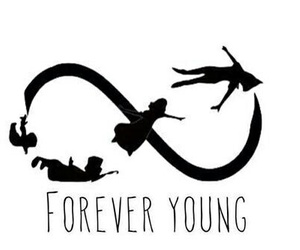 Forever Young, neverland, and peter pan image