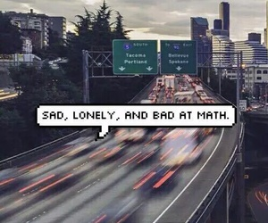 sad, lonely, and math image