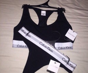 Calvin Klein, black, and underwear image