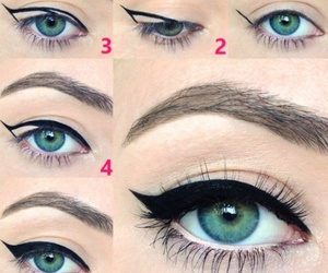 eyeliner, makeup, and eyes image