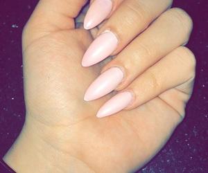 matte, nails, and pink image