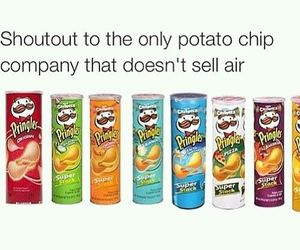 funny, chips, and pringles image