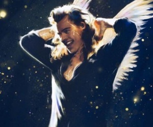 angel, Harry Styles, and one direction image