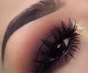 eyebrows, eyeshadow, and girls image