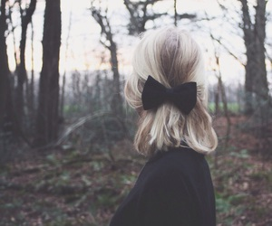 black, blonde, and bow image