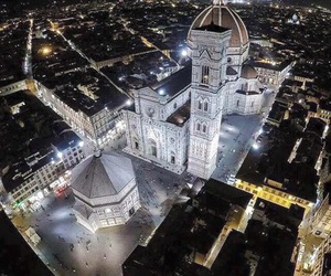 florence, italia, and city by night image