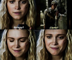 the 100, bellarke, and bellamy image