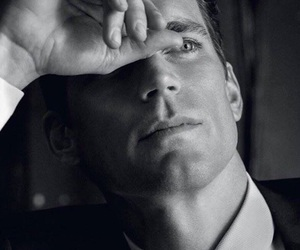 black and white, white collar, and neal caffrey image