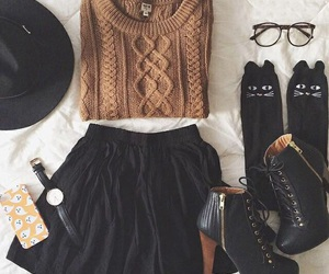 black, fashion, and glasses image
