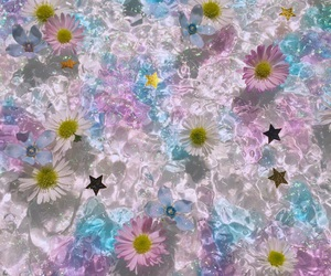 art, clear, and flower image