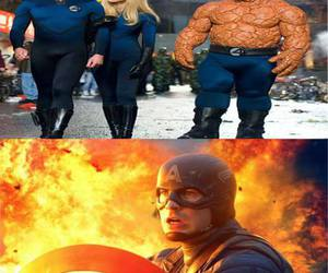 captain america, Fantastic Four, and Marvel image