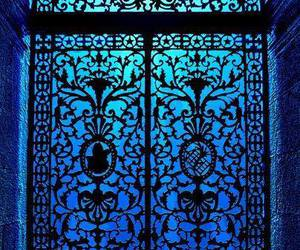 blue, door, and architecture image