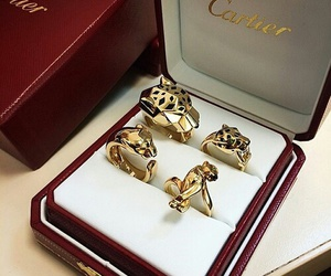 cartier, gold, and ring image
