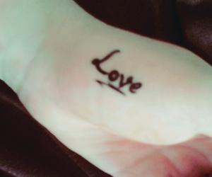 black, tattoo, and lové image
