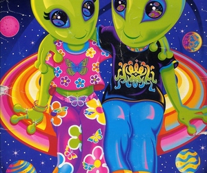 alien, colorful, and space image