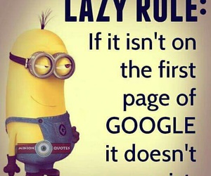minions and Lazy image