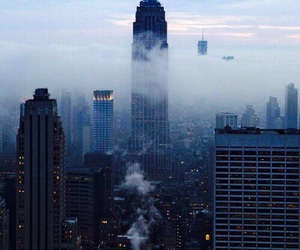 city, new york, and blue image
