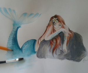 ispiration, marmaid, and whatercolor image
