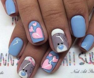 nails, bear, and heart image