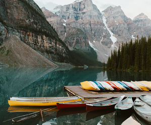 boat, cold, and forest image