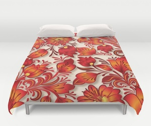 bedroom, decoupage, and duvet cover image