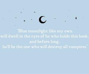 anime, moon, and vampire image